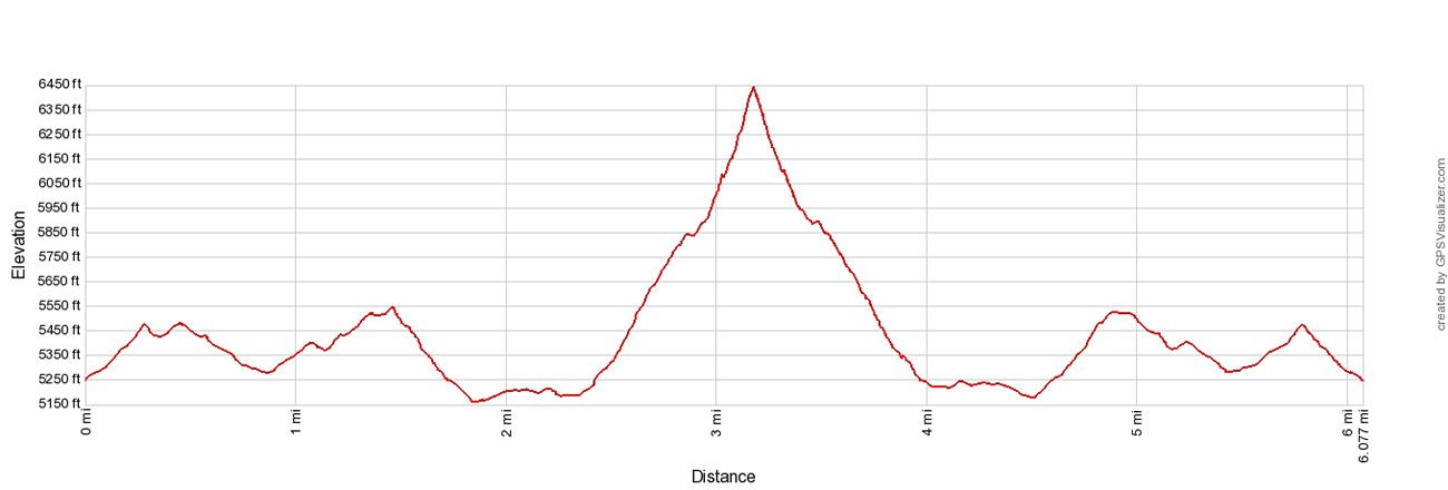 Mount Angeles Elevation Profile