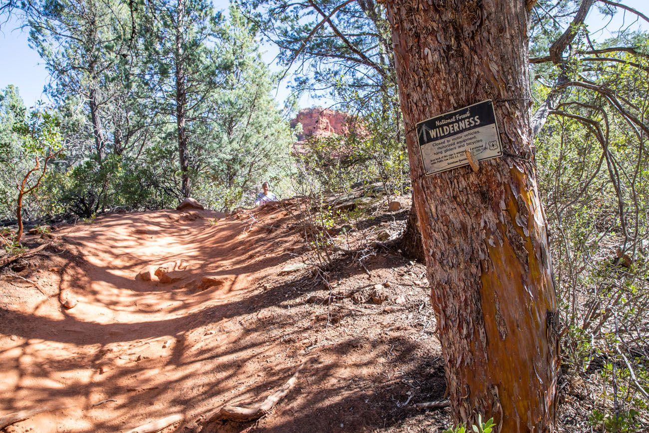 Sedona Wilderness Sign