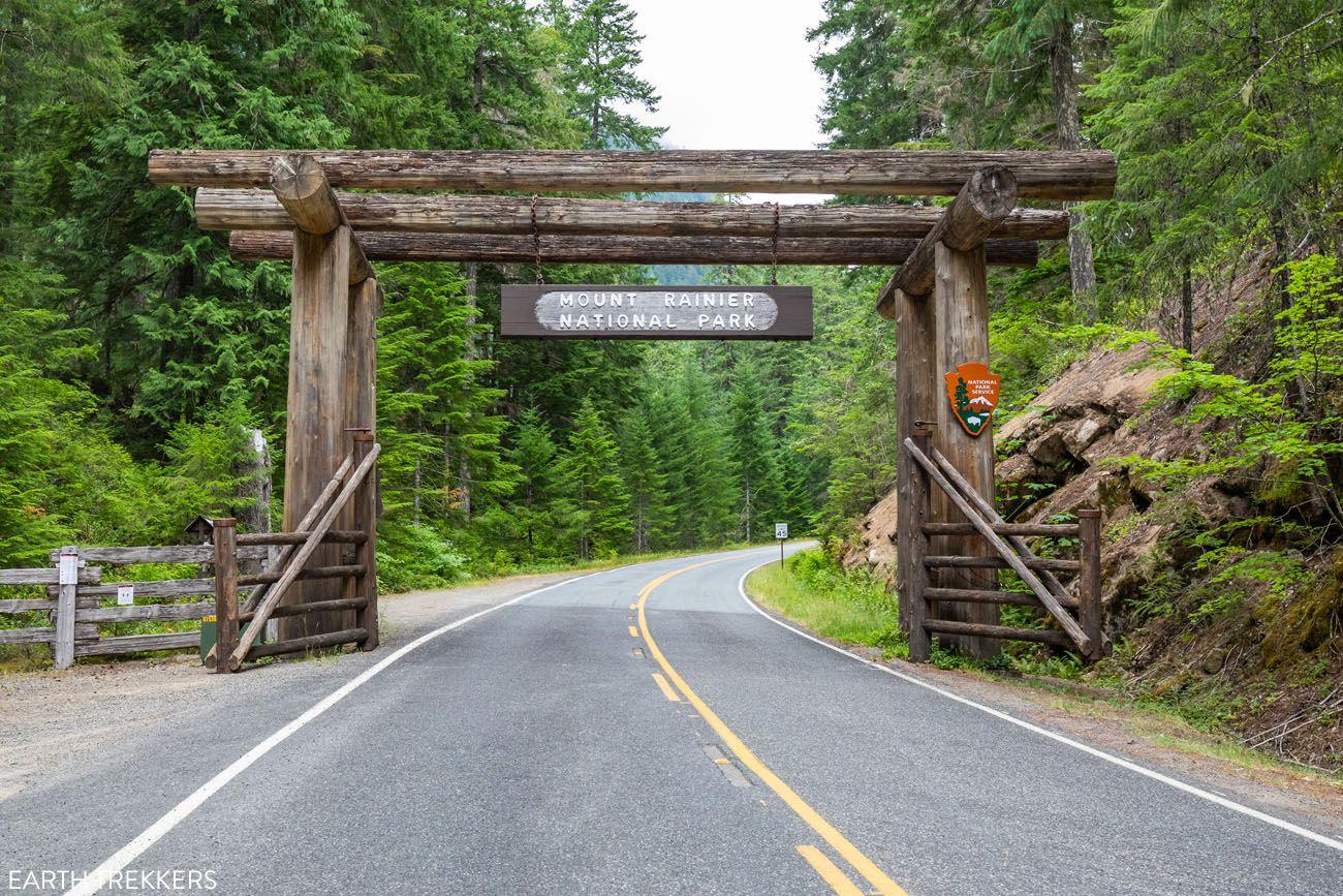 Mount Rainier Park Sign