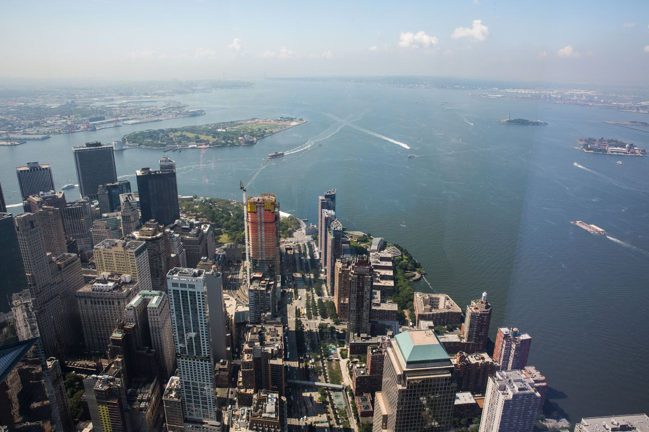 View from One World best observation decks in NYC