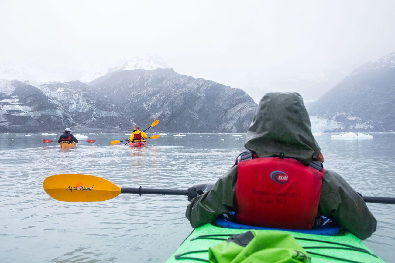 Glacier Kayaking in the Rain