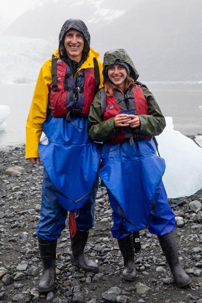 Tim and Kara Columbia Glacier