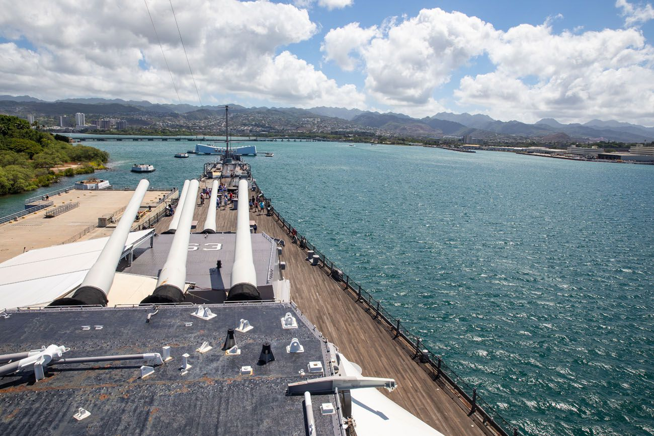 Battleship Missouri View