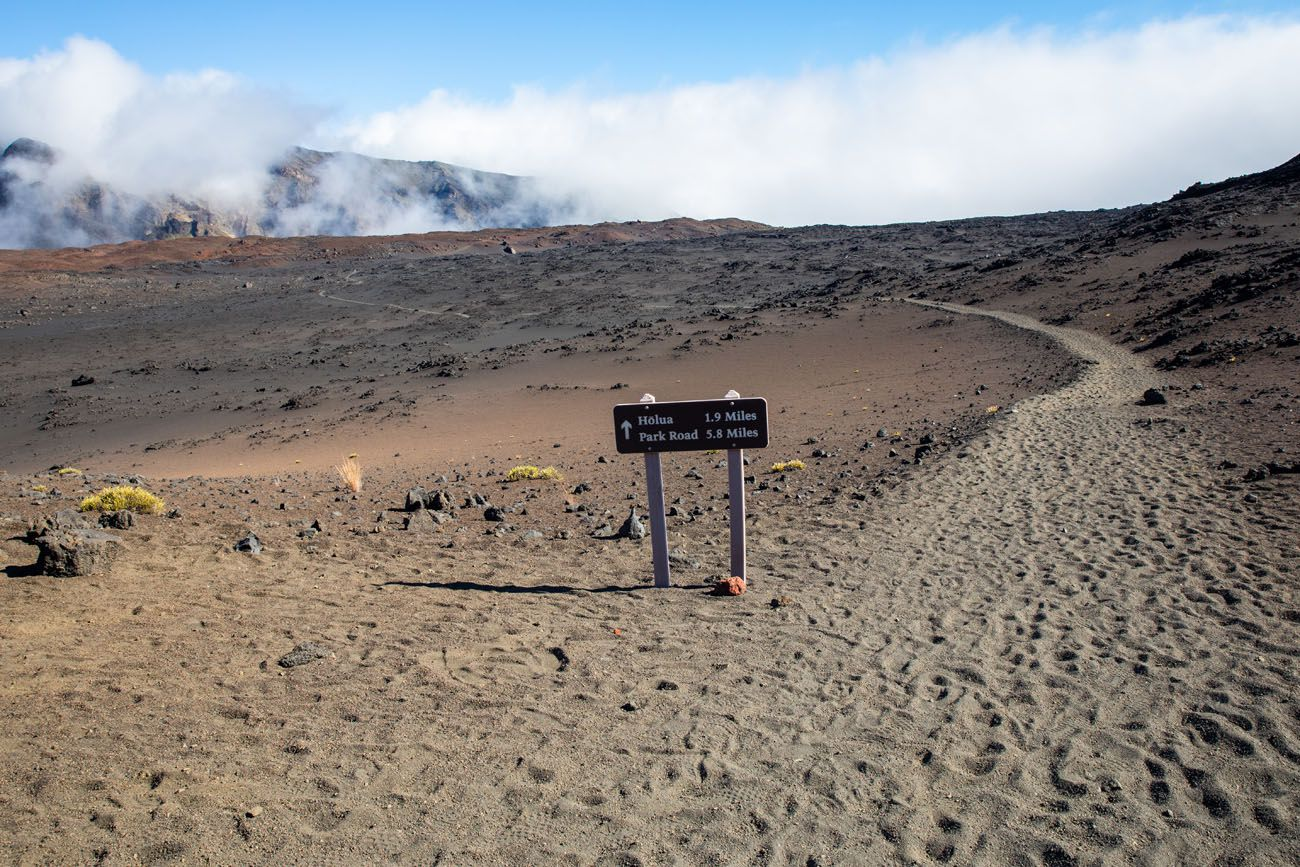Haleakala Trail Sign