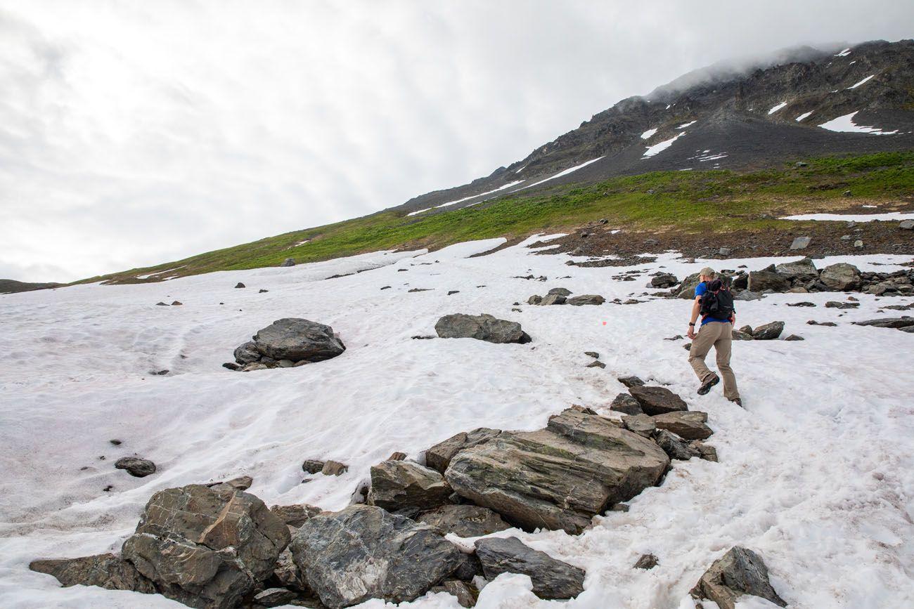 Harding Icefield Trail Snow