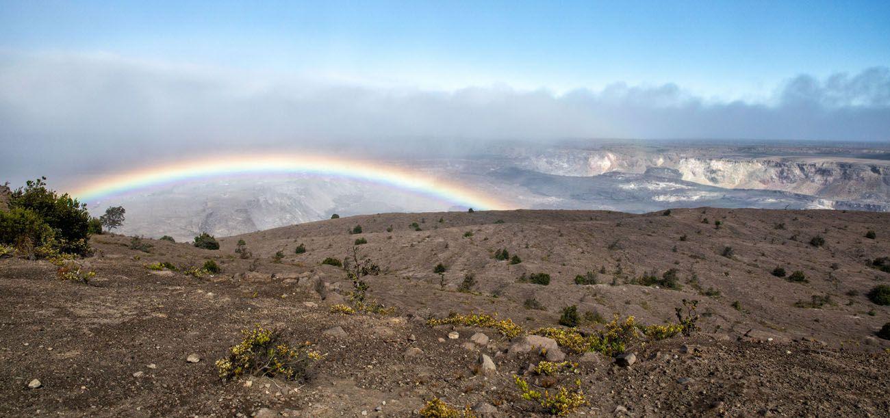 Kilauea Caldera with Rainbow