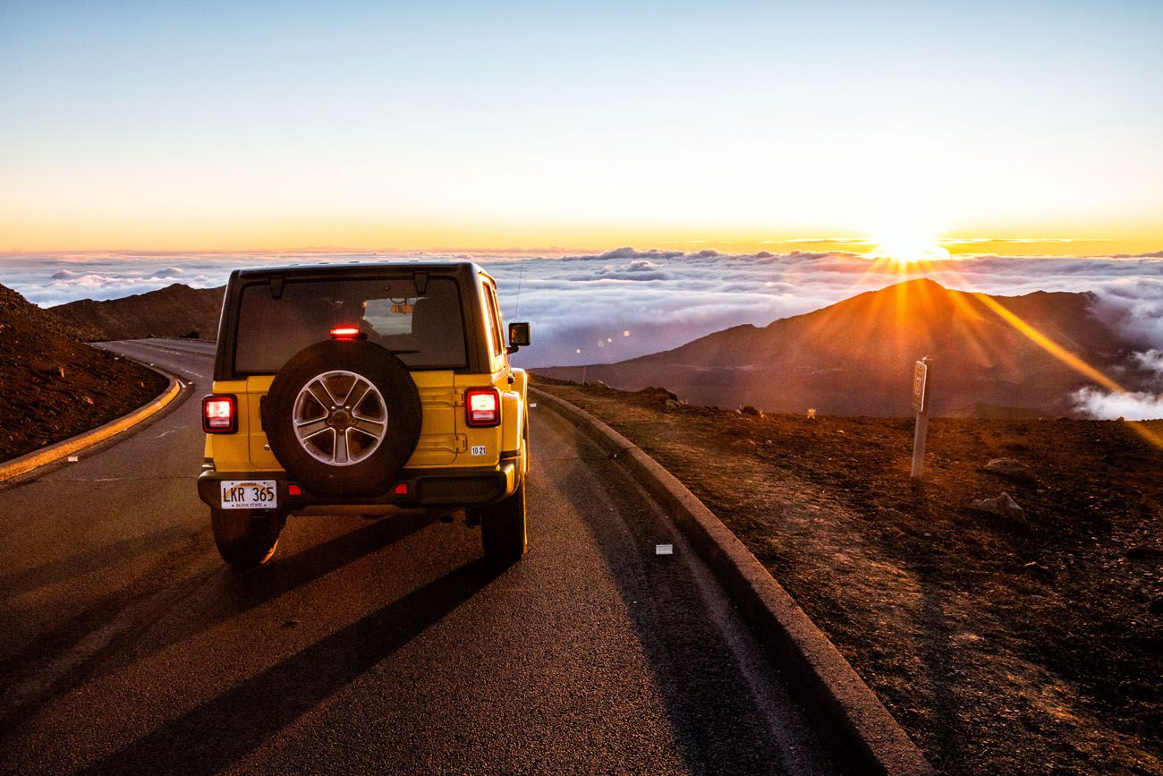 Our Jeep at Sunrise