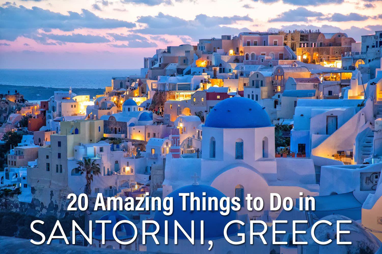 Things to do Santorini Greece