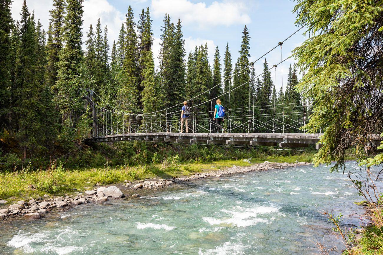 Triple Lakes Trail Suspension Bridge