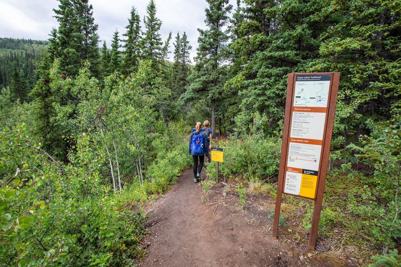 Triple Lakes Trailhead Sign