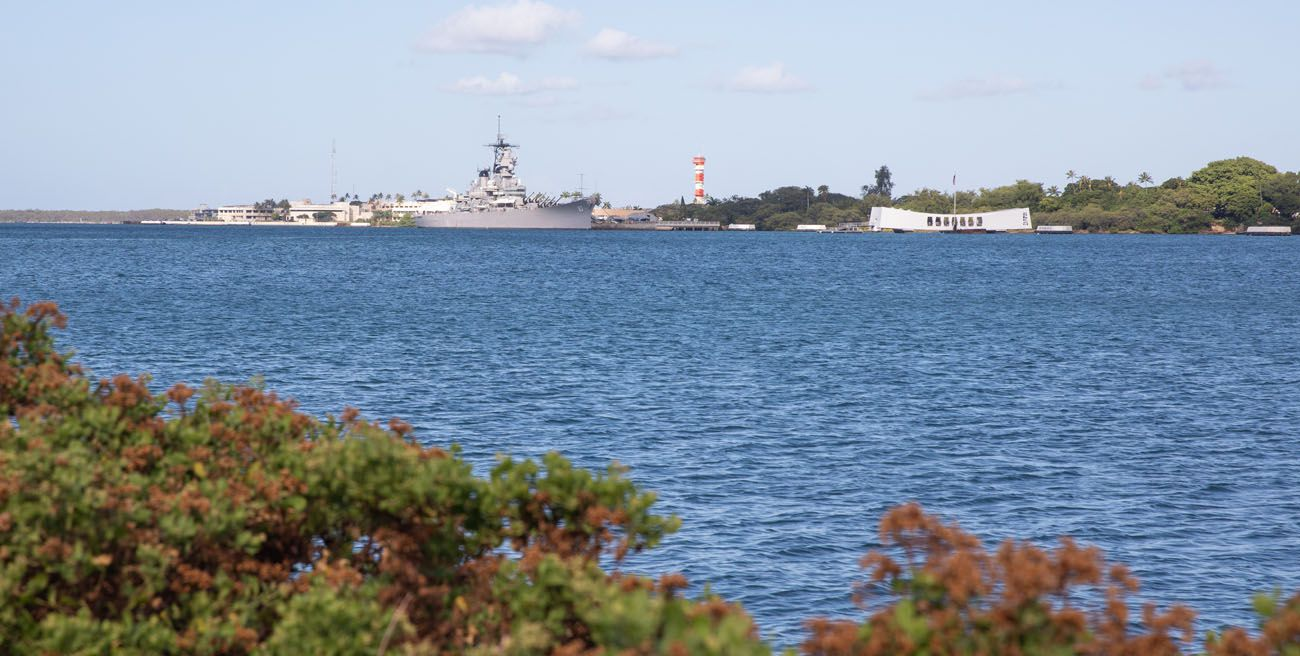 View of USS Arizona Memorial