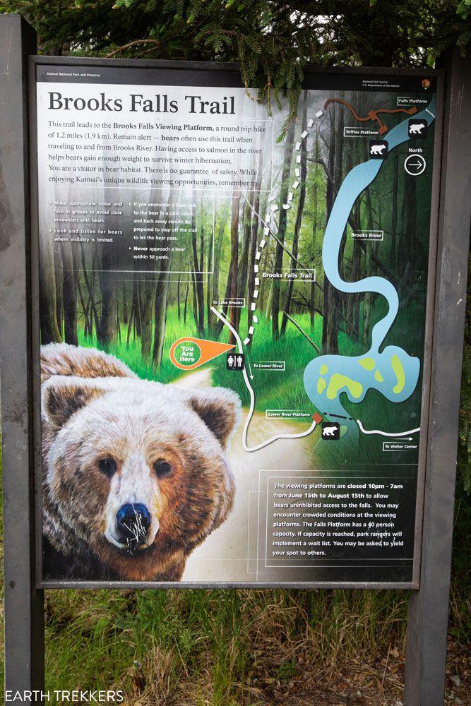Brooks Falls Trail Sign