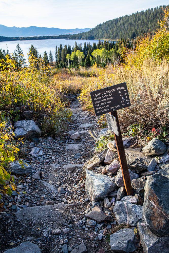 Grand Teton Trail Sign
