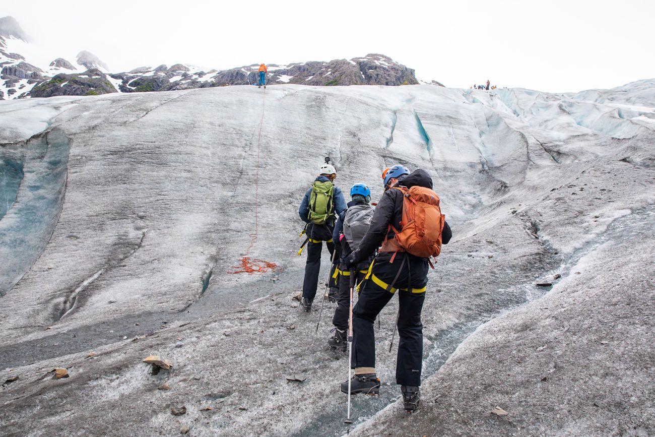 Hiking to Ice Wall