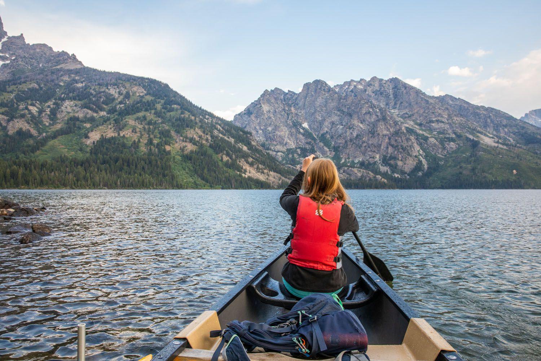 Jenny Lake Canoeing
