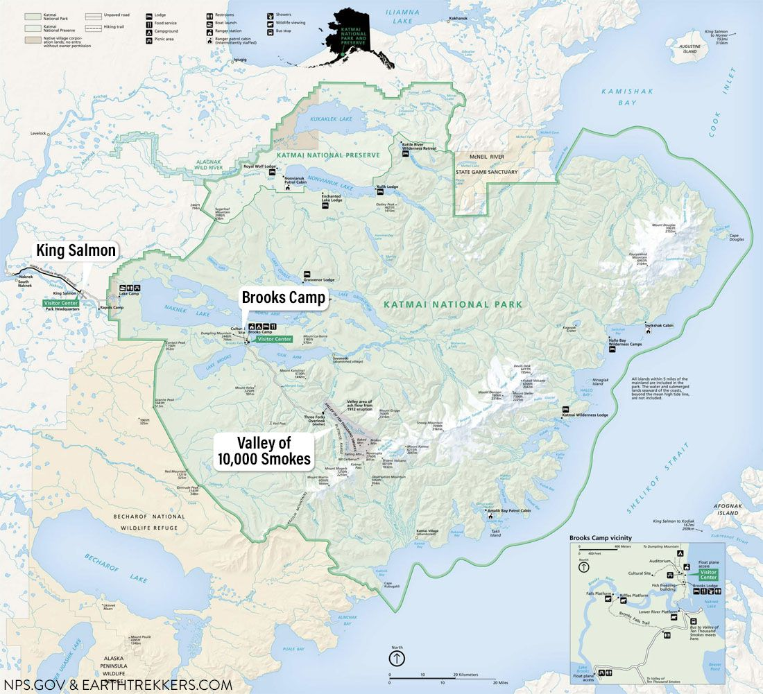 Katmai Map Brooks Camp