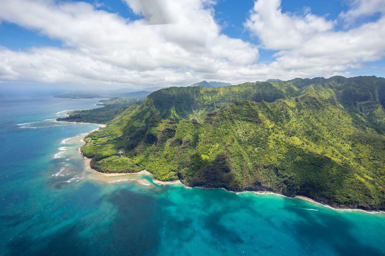 Kauai North Coast doors off helicopter tour of kauai