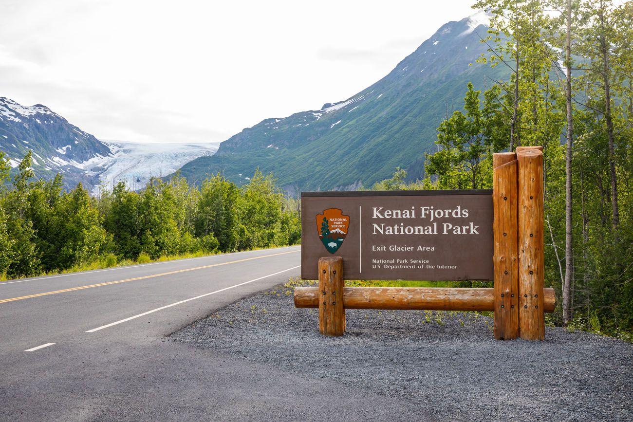Kenai Fjords Sign Seward Highway