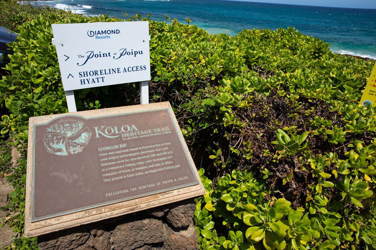 Koloa Sign best things to do in Kauai