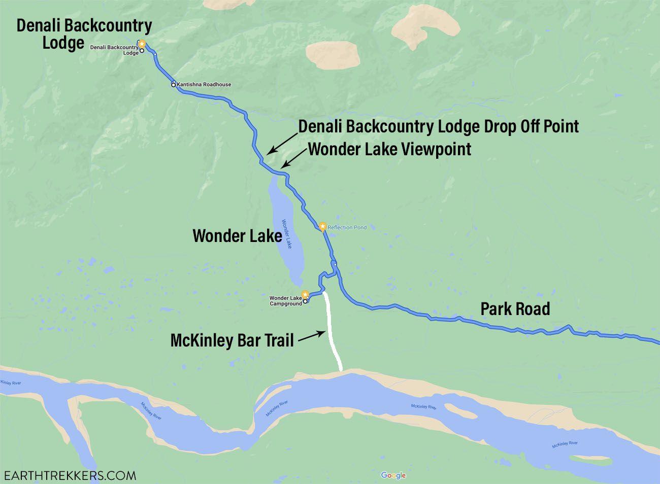 McKinley Bar Trail Map
