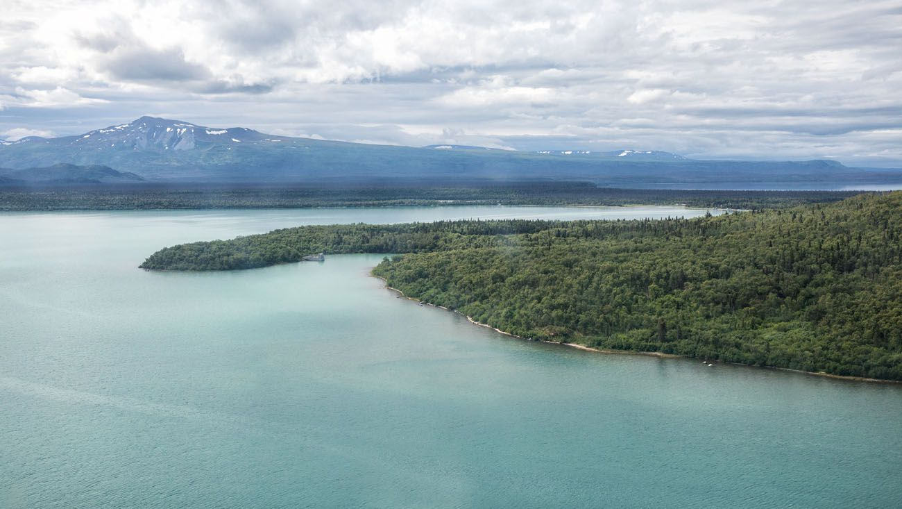 Naknek Lake from the Sky best things to do in Katmai National Park
