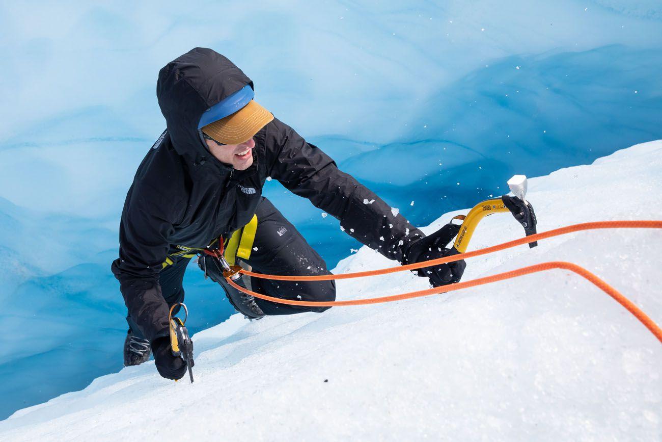 Tim Ice Climbing