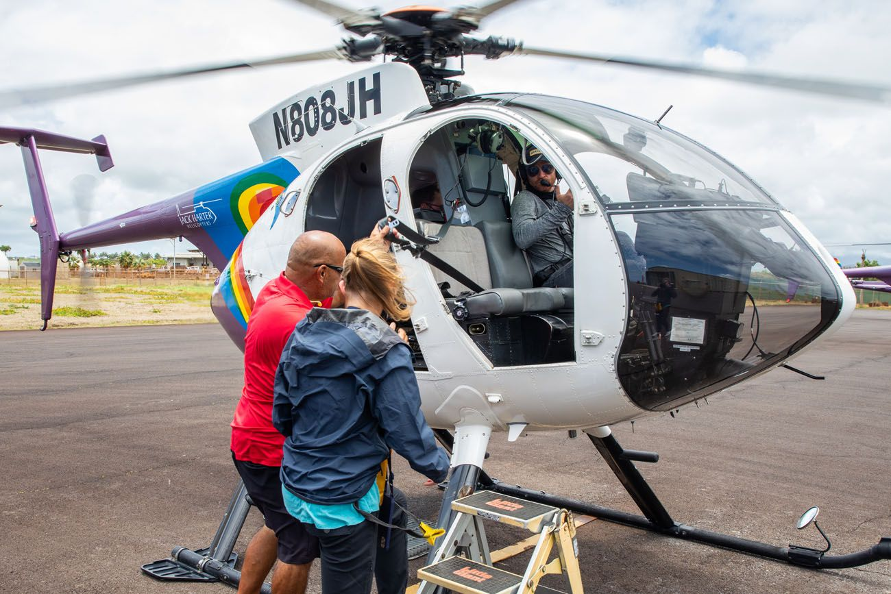 View inside Jack Harter Helicopter