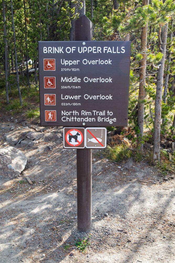 Brink of the Upper Falls Sign