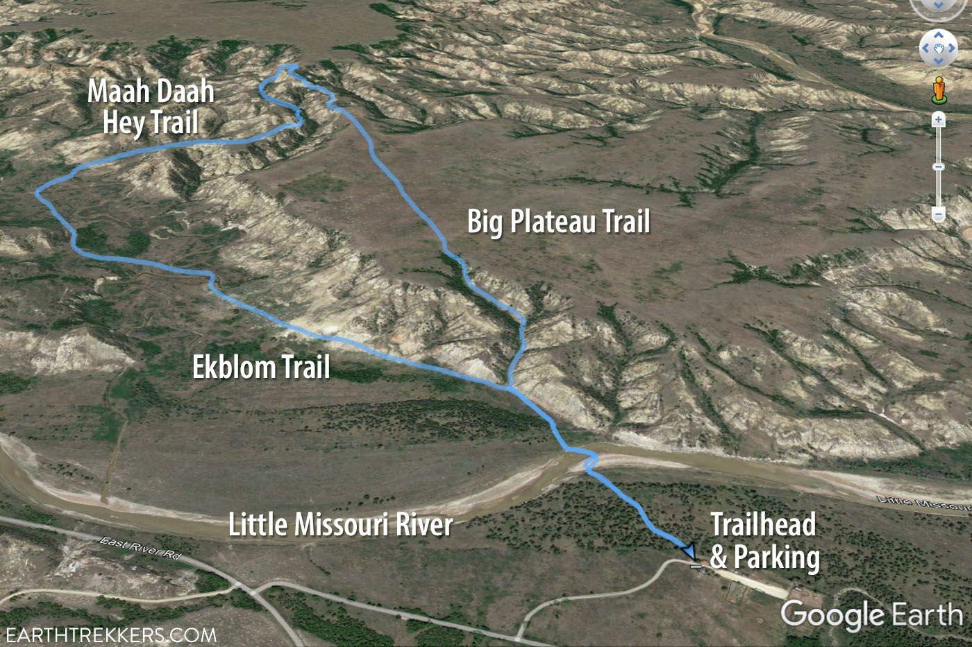 Ekblom Big Plateau Loop Trail Map