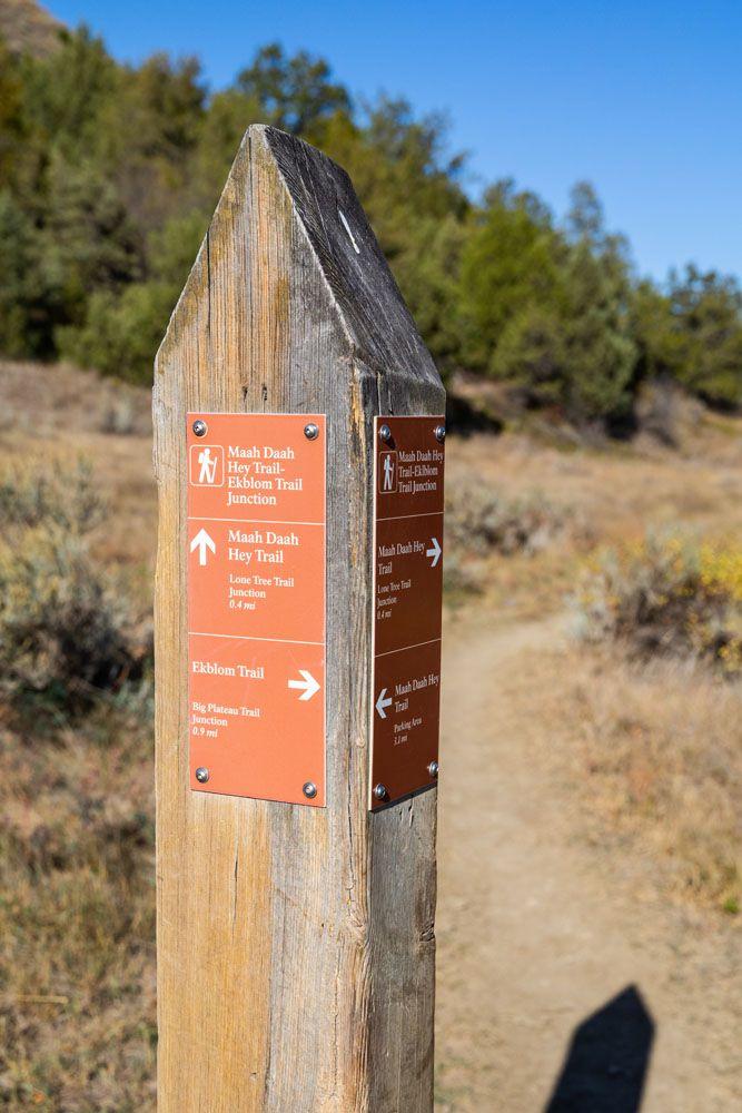 Maah Daah Hey Trail Junction